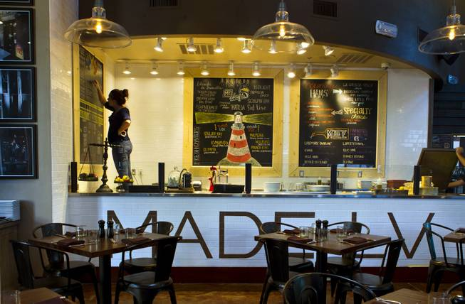 Made L.V. is a new restaurant opening tonight at Tivoli Village by owners Chef Kim Canteenwalla and Elizabeth Blau on Monday, August 18, 2014.