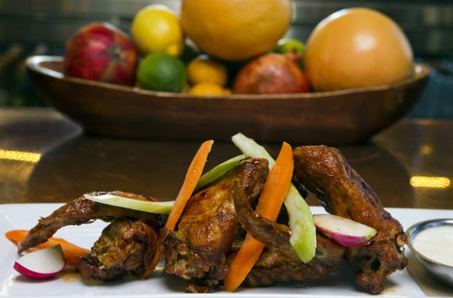 Butcher Style Wings from Made L.V. which is a new restaurant opening tonight at Tivoli Village on Monday, August 18, 2014.