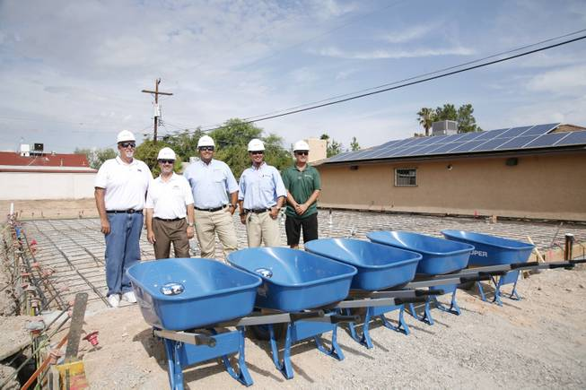 The Build Team for the Drop-In Center for Nevada Partnership for Homeless Youth includes (from left):
