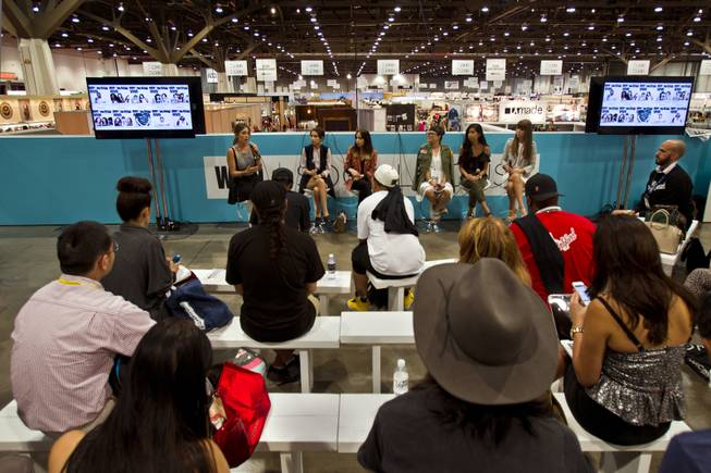 WWD presents a blogger panel on fashion trends before a large group gathered at the MAGIC Marketplace Fall Show at the Las Vegas Convention Center on Tuesday, August 19, 2014.