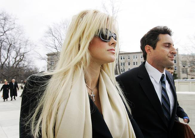 On Feb. 28, 2006, Anna Nicole Smith is shown outside the U.S. Supreme Court with her attorney Howard K. Stern in a bid to inherit her late husband's fortune. The model turned TV personality died Feb. 8, 2007.