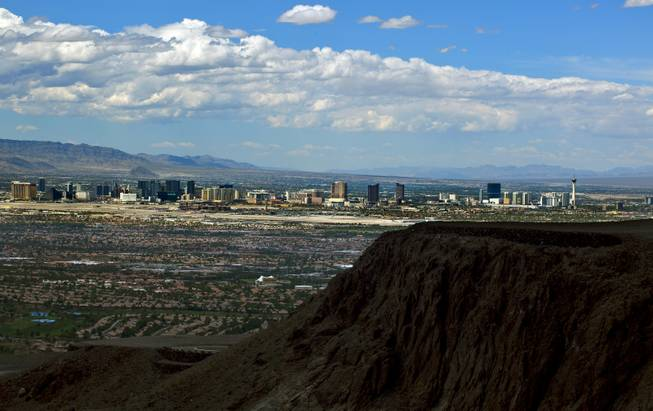 Ascaya has a fine view of the Strip on Wednesday, Aug. 20, 2014, from atop the mountain-mansion development.