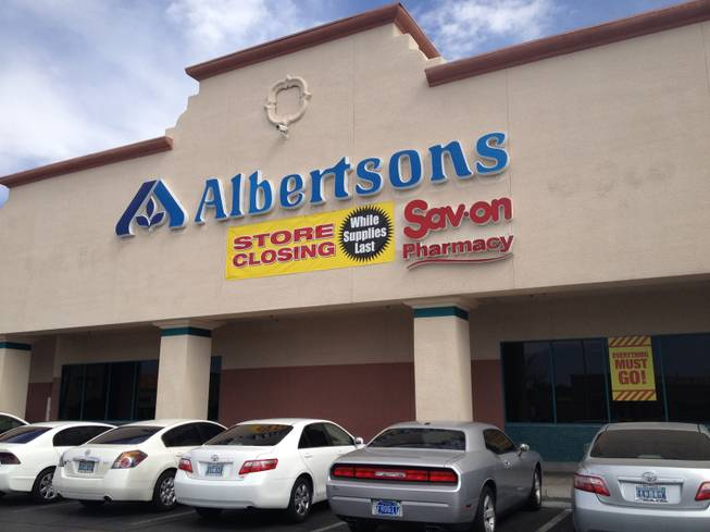 This Albertsons grocery store at Green Valley Parkway and Sunset Road in Henderson, pictured Wednesday, Aug. 20, 2014, is preparing to close.