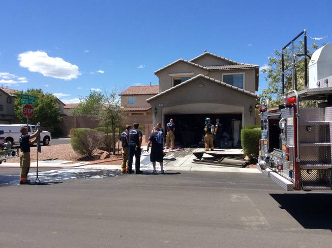 A fire broke out late this morning in the garage of a home at 8013 Cool Springs St. in the northwest valley, according to Las Vegas Fire & Rescue.