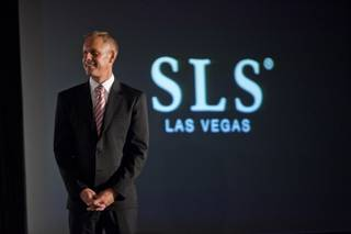 Rob Oseland, president of SLS Las Vegas, speaks during a press conference at SLS Las Vegas on Friday, Aug. 22, 2014.