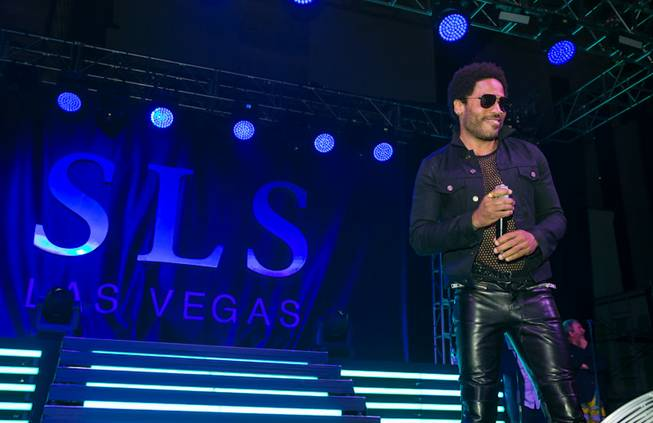 Lenny Kravitz at the grand opening of SLS Las Vegas on Friday, Aug. 22, 2014, on the Strip.