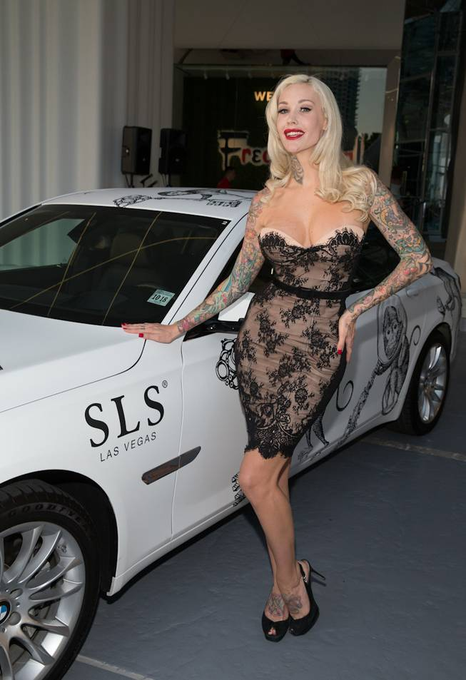 Sabina Kelley at the grand opening of SLS Las Vegas on Friday, Aug. 22, 2014, on the Strip.