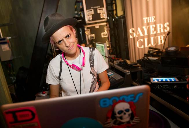 Samantha Ronson at the grand opening of SLS Las Vegas on Friday, Aug. 22, 2014, on the Strip.