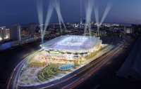 Artist's rendering of proposed stadium.