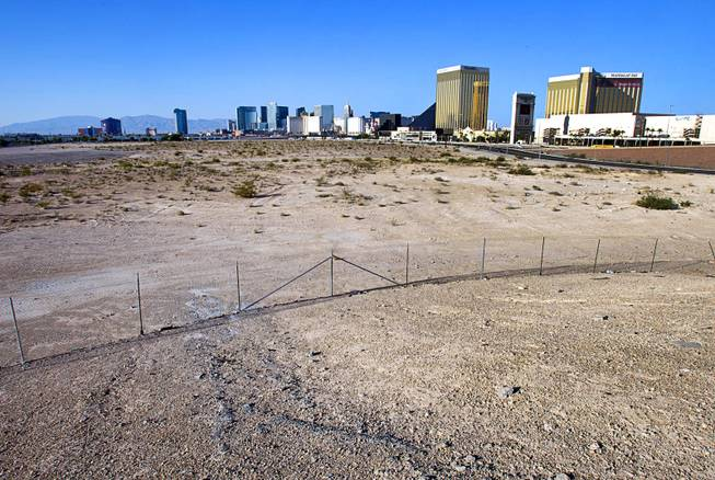 A view of vacant land west of Mandalay Bay on Thursday, Aug. 28, 2014. Developer Jack Kashani is said to be buying the 63-acre parcel to build a two million-square-foot fashion-industry expo center.