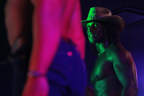 Chaun Williams of Men of the Strip performs at The D Las Vegas on Thursday, Aug. 28, 2014, in downtown Las Vegas.