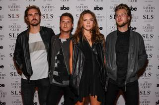 Tove Lo and three band mates arrive at The Sayers Club on Thursday, Aug. 28, 2014, in SLS Las Vegas.