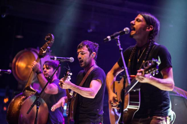 The Avett Brothers at Brooklyn Bowl on Saturday, Aug. 30, 2014, in the Linq Promenade.