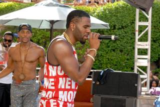 Jason Derulo performs at Rehab on Saturday, Aug. 30, 2014, in Hard Rock Hotel Las Vegas.