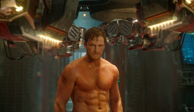 "Chris Pratt in a scene from the box office blockbuster ""Guardians of the Galaxy."""