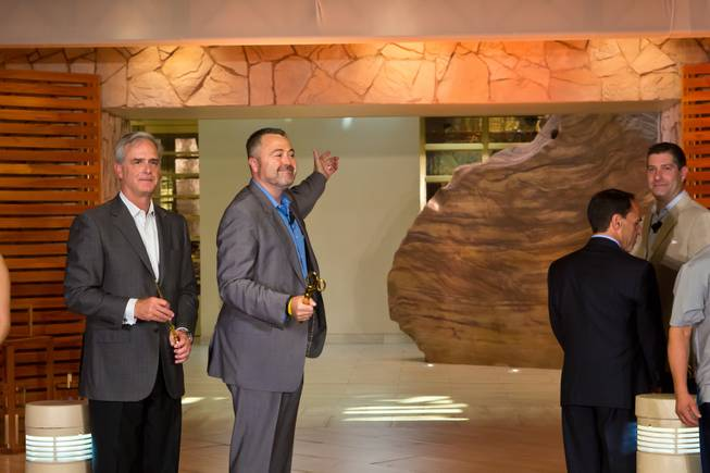 Matther Chilton, general manager of Delano Las Vegas, welcomes the public to see the new hotel during a ceremonial opening Tuesday, Sept. 2, 2014.