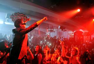 Miguel performs at Hyde Bellagio on Saturday, Aug. 30, 2014.