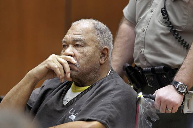 In this Monday, March 4, 2013, file photo, Samuel Little appears at Superior Court in Los Angeles. A Los Angeles jury on Tuesday, Sept. 2, 2014 convicted Little, a 74-year-old career criminal, in the serial killings of three women in the 1980s.