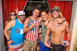 Ryan Lochte, David Guetta at Encore Beach Club