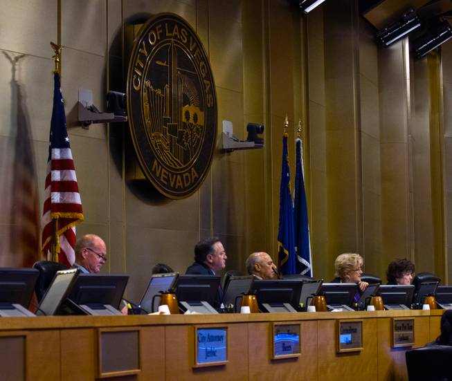 The Las Vegas City Council receives a presentation on the proposed downtown soccer stadium and votes whether to approve financial terms of the deal on Wednesday, September 3, 2014.