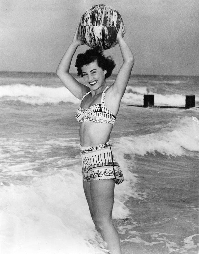 Niki Devine, who as a model in the late 1940s did photo shoots for bathing suits, gave up the profession in the 1950s to start and raise a family.