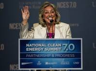 Rep. Dina Titus speaks at the Clean Energy Summit at Mandalay Bay on Thursday, Sept. 4, 2014.