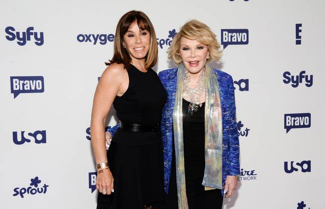 Melissa Rivers, left, and Joan Rivers attend the NBCUniversal Cable Entertainment 2014 Upfront at the Javits Center on Thursday, May 15, 2014, in New York.