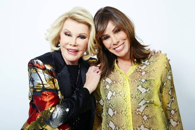 This Feb. 21, 2013, file photo shows comedienne Joan Rivers and her daughter Melissa Rivers in New York.