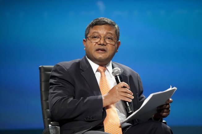 Moderator Arun Majumdar speaks during the Leapfrogging Technology panel  at the National Clean Energy Summit 7.0: Partnership & Progress on Thursday, September 4th at Mandalay Bay Resort & Casino in Las Vegas.