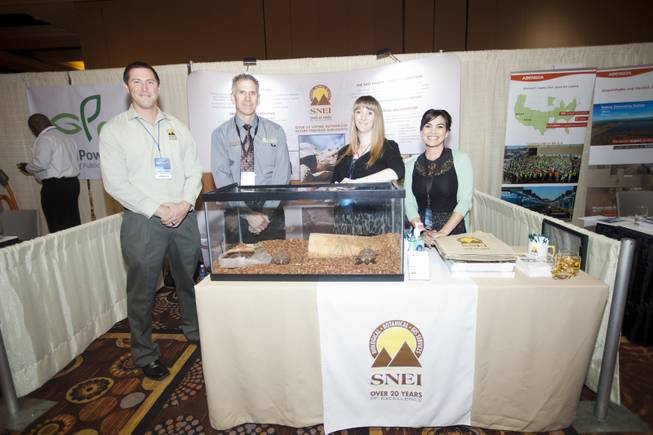 SNEI members Doug O'Sullivan, Sean St. Marie, Amy Deang, and Carey Carlos at the National Clean Energy Summit 7.0: Partnership & Progress on Thursday, September 4th at Mandalay Bay Resort & Casino in Las Vegas.