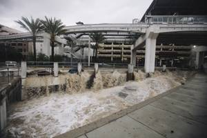 Flooding at The Linq