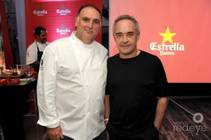 Chefs Jose Andres and Ferran Adria.