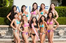 2013 Miss Asian Las Vegas Catherine Ho, front and center, with contestants in the 2014 Miss Asian Las Vegas Pageant at Azure Luxury Pool in Palazzo.