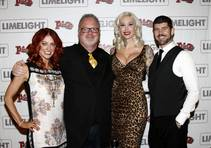 "Jodie McDonald, Kevin Burke, Sabina Kelley and Danial Brown arrive at opening night of ""Limelight"" on Saturday, Sept. 13, 2014, at the downtown Plaza."