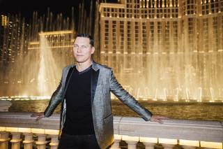 Tiesto unveils a Bellagio Fountains show choreographed to an exclusive medley of three of his songs Wednesday, Sept. 17, 2014, at Bellagio.
