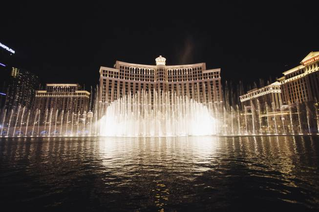 The Bellagio Fountains on Wednesday, Sept. 17, 2014, at Bellagio.