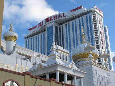 This Sept. 19, 2011, photo shows the Trump Taj Mahal casino-resort in Atlantic City, N.J. The casino's Internet gambling partner, Ultimate Gaming, said on Friday, Sept. 19, 2014, it was ending its alliance with the Taj Mahal and pulling out of the New Jersey online gambling market.