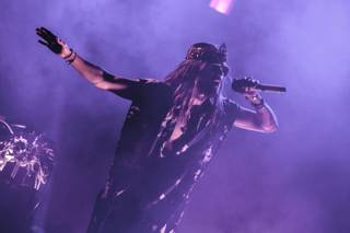Thirty Seconds to Mars, with Oscar-winning frontman Jared Leto, performs at Boulevard Pool on Saturday, Sept. 20, 2014, in The Cosmopolitan of Las Vegas.