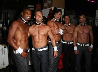 Chippendales alumni Terry Lenley, Tor Kristiansen, Michael Rapp, Dean Mammeles and Kevin Casper still got it at the Chippendales 35th anniversary celebration Saturday, Sept. 20, 2014, at the Rio.