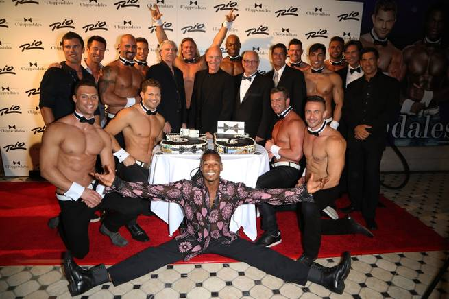 The Chippendales 35th anniversary celebration with former and current cast members Saturday, Sept. 20, 2014, at the Rio.