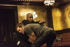 "Denzel Washington and Nash Edgerton appear in a scene from the No. 1 film ""The Equalizer."""