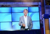 Ellen DeGeneres appears via video at the 2014 Global Gaming Expo on Tuesday, Sept. 30, 2014, in Las Vegas.