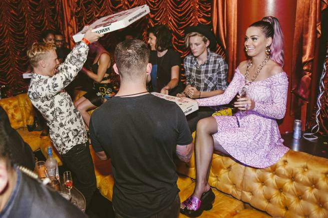 Katy Perry parties at Surrender on Friday, Sept. 26, 2014, in Encore.