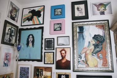 A look inside James Chaps house to see his vast art collection on September 25, 2014.