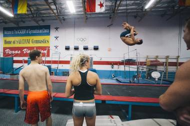Potential candidates try out at public auditions to be part of Cirque Du Soleil productions took place at the Academy of Gymnastics and Dance on September 26, 2014.