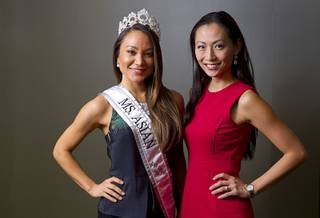 Jamie Stephenson, 2014 Ms. Asian Las Vegas, and Annie Chang Evans, founder of the Miss Asian Las Vegas Pageant, pose during an interview in Summerlin Wednesday, Oct. 1, 2014.