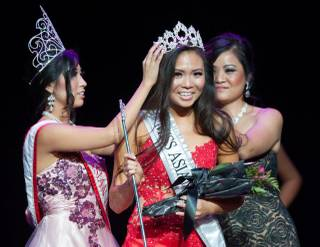 Monica Fung is crowned 2014 Miss Asian Las Vegas on Sunday, Sept. 28, 2014, at Palazzo Theater.