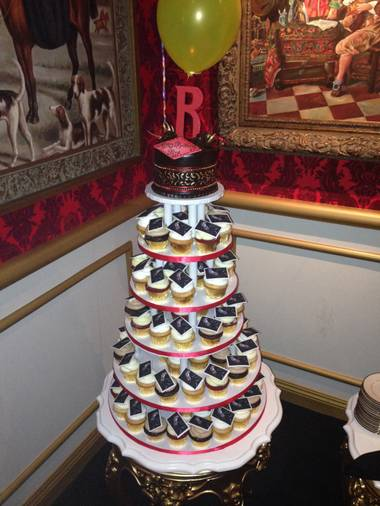 Roy Horn's 70th birthday cake — or, rather, cupcakes — is shown at 1923 Bourbon & Burlesque by Holly Madison on Friday, Oct. 3, 2014.