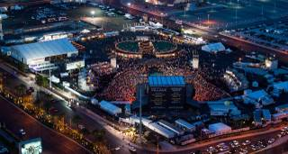 The inaugural Route 91 Harvest country music festival on Friday, Oct. 3, 2014, at MGM Resorts Village.