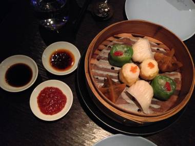 The celebratory Golden Week dinner at Hakkasan on Monday, Sept. 29, 2014, in MGM Grand. The dim sum platter is pictured here.